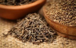 Caraway seeds with other spices